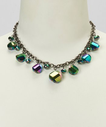 Green & Silver Hematite Necklace