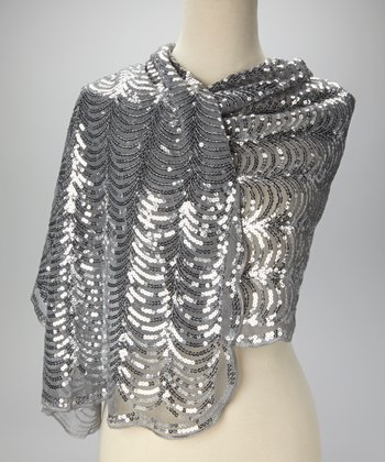 Silver Sequin Wrap