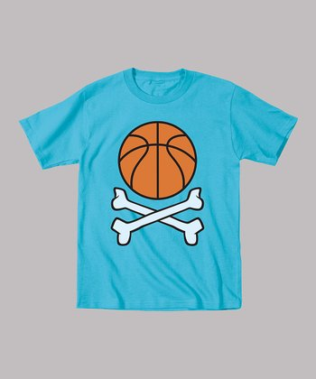Turquoise Basketball Crossbones Tee - Toddler & Boys