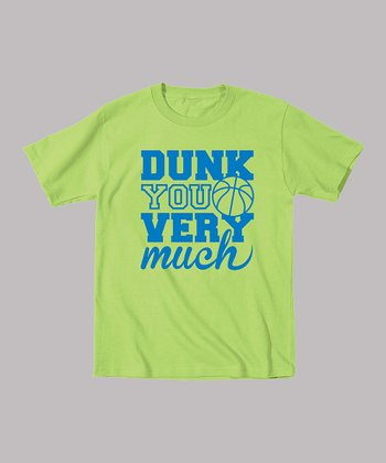 Key Lime 'Dunk You Very Much' Tee - Toddler & Boys