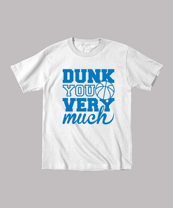 White 'Dunk You Very Much' Tee - Toddler & Boys