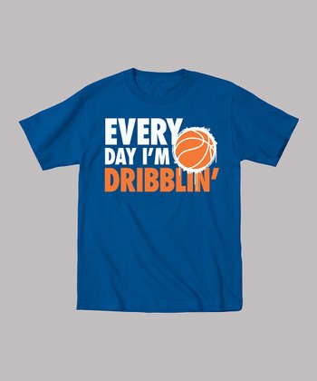 Royal Blue 'Every Day I'm Dribblin' Tee - Infant, Toddler & Boys
