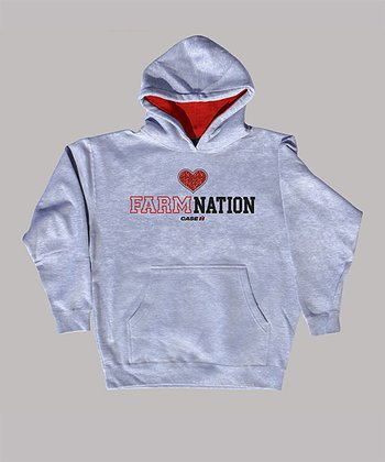 Athletic Heather 'Farm Nation' Hoodie - Kids