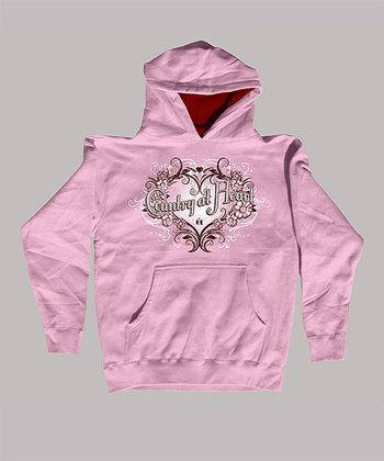 Pink 'Country at Heart' Hoodie - Kids