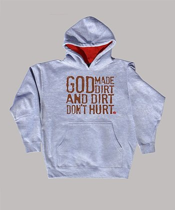 Athletic Heather 'Dirt Don't Hurt' Hoodie - Toddler & Kids