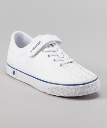 White & Blue Clean Laguna Sneaker