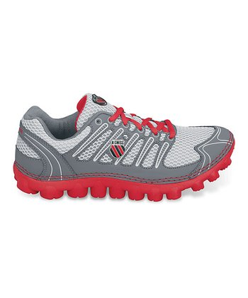 Coastal Gray & Fiery Red Vertical Tubes Cali-Mari Sneaker
