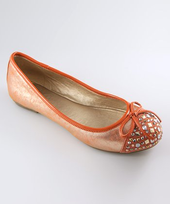 Orange Celie Ballet Flat