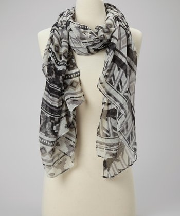 Black & Gray Tribal Scarf