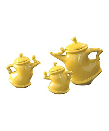 Yellow Teapot Set