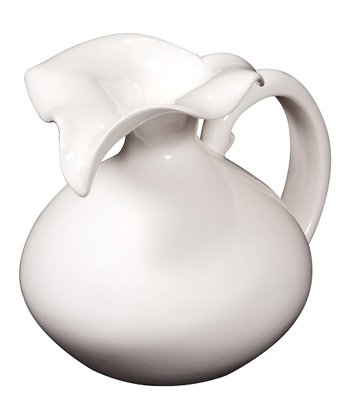 White Glossy Ceramic Pitcher