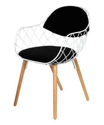 White & Black Peanuts Armchair
