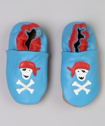 Blue & Red Pirate Bootie