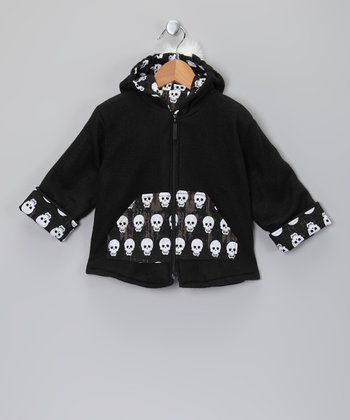 Black Graffiti Mohawk Zip-Up Hoodie - Infant