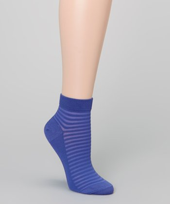 Blueberry Pie Stripe Anklet Socks