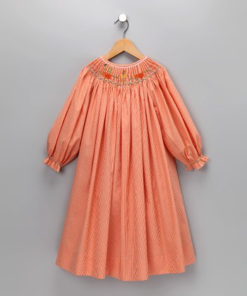 Wish Upon a Star Orange Bishop Dress - Infant, Toddler & Girls