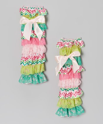 Watermelon Tiered Leg Warmers
