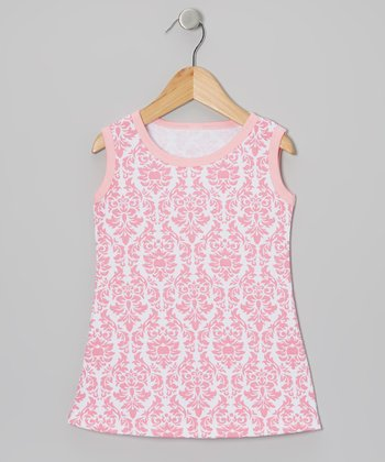 Pink Damask Shift Dress - Infant, Toddler & Girls