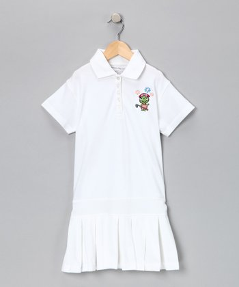 White Golf Turtle Drop-Waist Dress - Infant & Girls