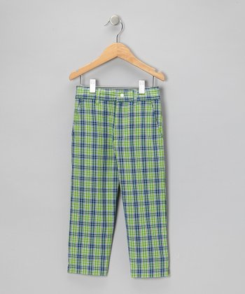 Green & Blue Mulligan Madras Pants - Infant, Toddler & Boys