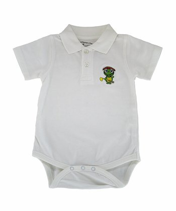White Tour Polo Bodysuit - Infant