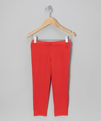 Torch Red Capri Leggings - Toddler & Girls
