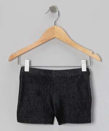 Denim Black Bike Shorts - Toddler & Girls