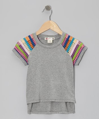 Malibu Rainbow Zuma Raglan Top - Toddler & Girls