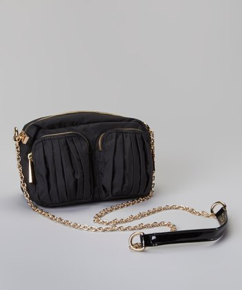 Black Pocket Crossbody Bag