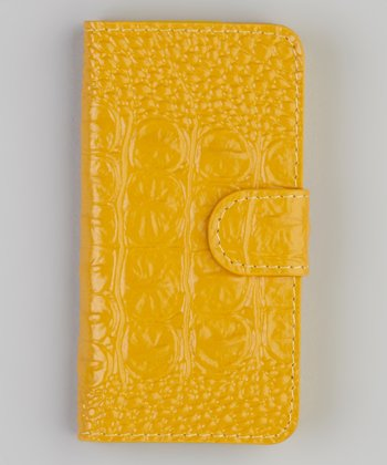 Yellow Leather iPhone 5 Case