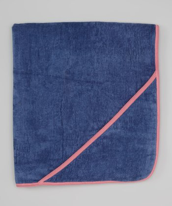 Slate Blue & Pink Hooded Towel