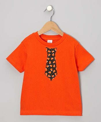 Orange Candy Corn Tie Tee - Infant, Toddler & Boys