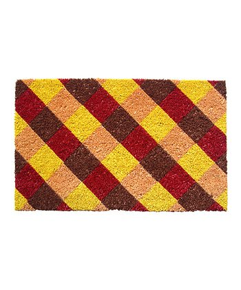 Brown & Yellow Checker Doormat