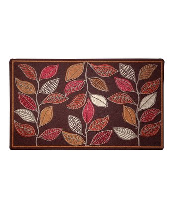 Abstract Leaves Indoor Doormat