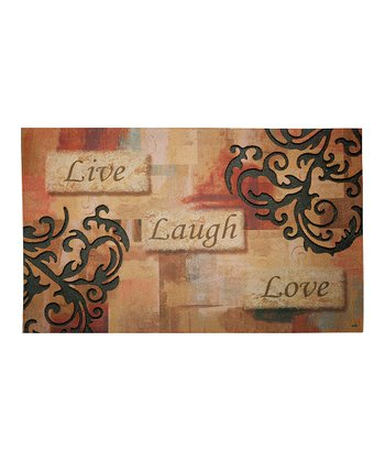 'Live Laugh Love' Outdoor Doormat