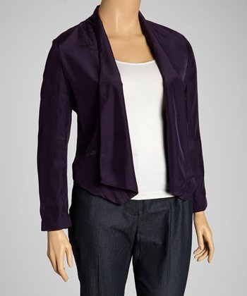 Plum Jacket - Plus