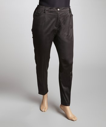 Jet Black Pants - Plus