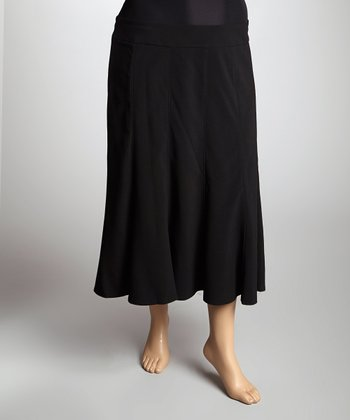 Black Lined Skirt - Plus