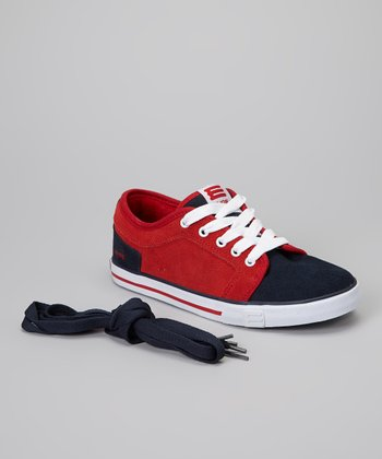 Red & Black Suede Sneaker
