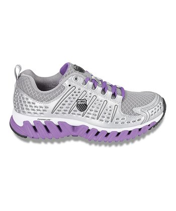 Silver & Deep Lavender Blade-Max Endure Running Shoe - Women