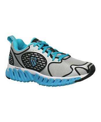 Silver & Blue Blade-Max Glide Running Shoe - Women