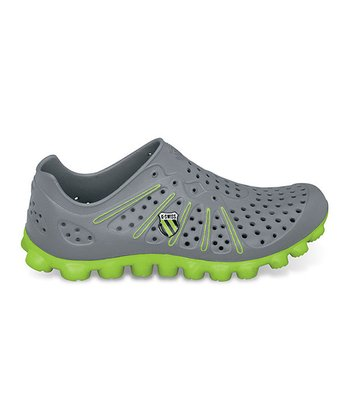 Charcoal & Lime Vertical Tbs Recover Running Shoe - Women & Men