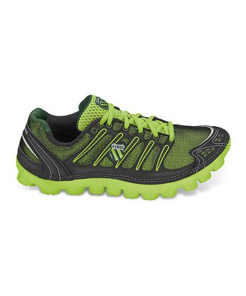 Green & Black Cali-Mari P Running Shoe - Men