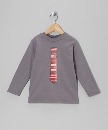 Gray Festive Tie Tee - Infant