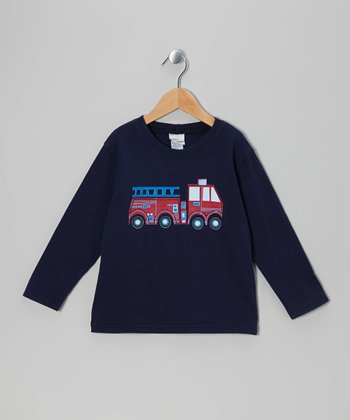 Navy Fire Truck Tee - Infant, Toddler & Boys