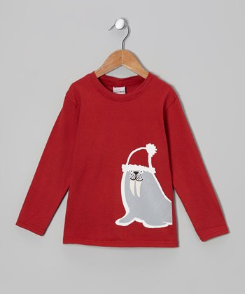 Red Wally Walrus Tee - Infant