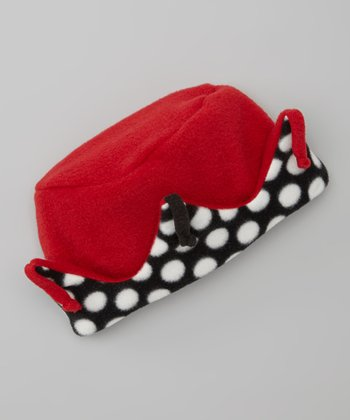 Red Polka Dot Combo Crown Hat