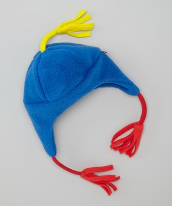 Royal Blue Fleece Earflap Beanie