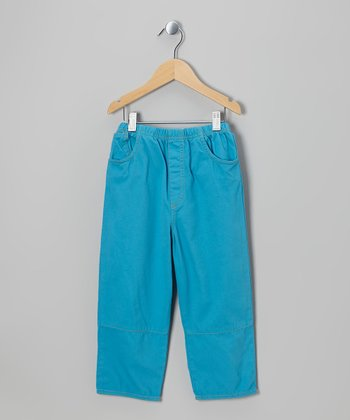 Lagoon Blue Twill Pants - Infant, Toddler & Boys