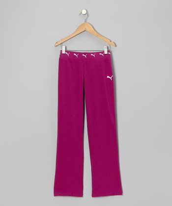 Fuchsia Warm-Up Pants - Girls